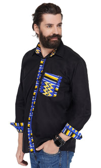 Kente Accent Button Down Shirt
