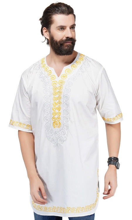 Unisex Embroidered Long Dashiki Shirt