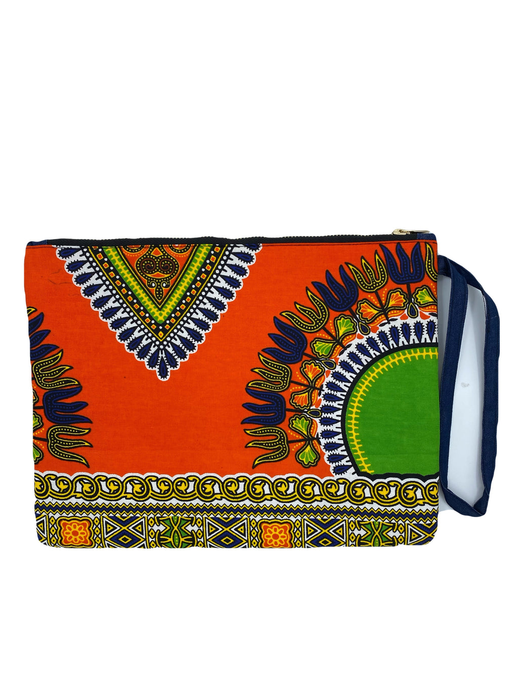 Denim Styled Dashiki Pouch/Purse
