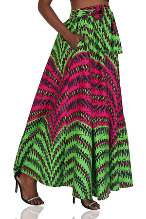 Ankara Long Maxi Skirt
