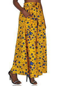 Ankara Yellow Wide Leg pants