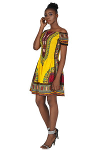 Yellow Dashiki Elastic/Smoked Top