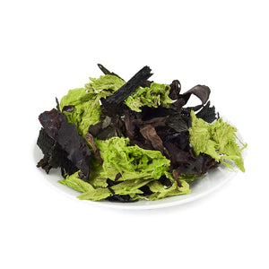 Organic Irish Seaweed Salad Fusion - Dulse, Nori, Sea Lettuce, Wakame - We avoid Plastic Bag - Vegan - non-GMO - Fat-Free - Gluten-Free
