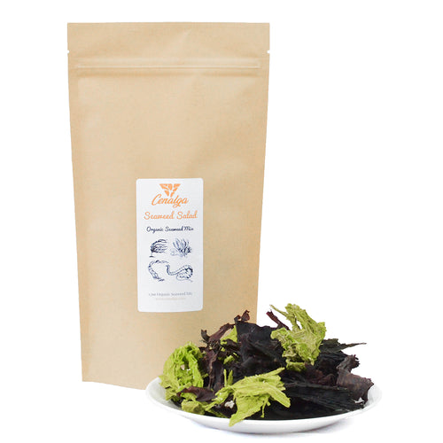 Organic Irish Seaweed Salad Fusion (Dulse, Nori, Sea Lettuce, Wakame) Whole Leaf
