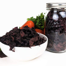 "Load image into Gallery viewer, Organic Dulse Whole Leaf Seaweed - ""Jar of Dulse"" - NO Plastic Package - Vegan Certified - non-GMO - Perfect for Paleo Diet - Kosher - Fat-Free - naturally Gluten-Free"