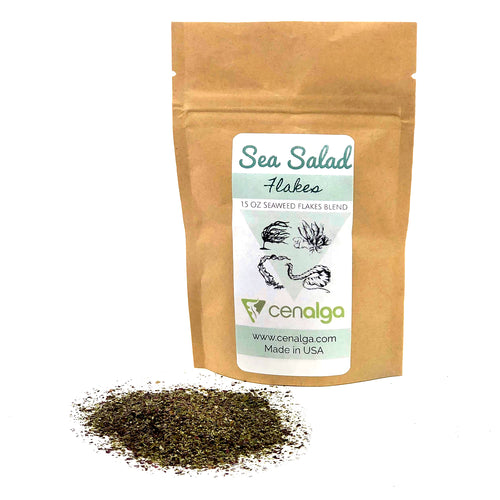 Organic Irish Seaweed Salad Fusion (Dulse, Wakame, Sea Lettuce, Sugar Kelp) Flakes