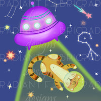 Alien Abduction Tiger Panel - Radiant Beginnings Preorder