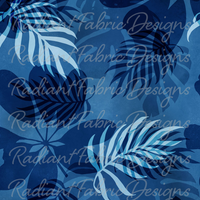 PRORDER Blue Tropical Leaves - Tropical Dreaming