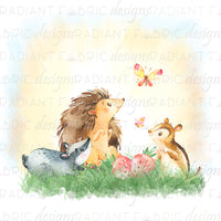 Forest Friends Small Friends Panel - Radiant Beginnings Preorder