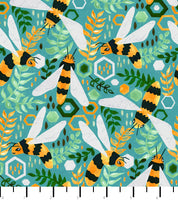 PREORDER Friendly Gouache Bees Greens - Bees and Such