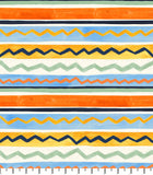 PREORDER Friendly Gouache Bees Stripes Sage & Cornflower - Bees and Such