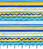PREORDER Friendly Gouache Bees Stripes Teal - Bees and Such