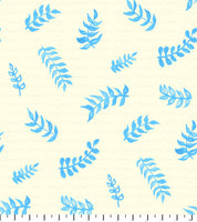 PREORDER Friendly Gouache Bees Leaves Blue & Cream- Bees and Such