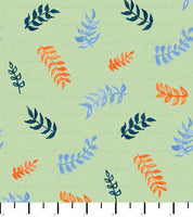 PREORDER Friendly Gouache Bees Leaves Sage, Orange, & Blue - Bees and Such