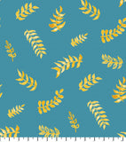 PREORDER Friendly Gouache Bees Leaves Teal & Gold - Bees and Such
