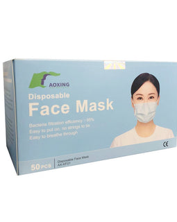 Breathable Disposable Face Masks Packaged