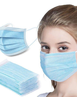100 Face Masks Breathable Sterilized Non Woven