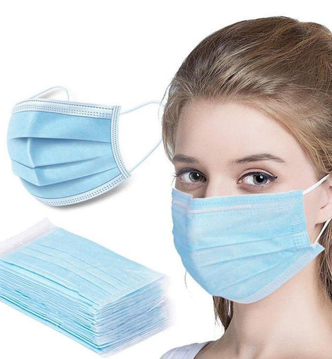 Medical Non Woven Protective Face Mask - 50 pieces