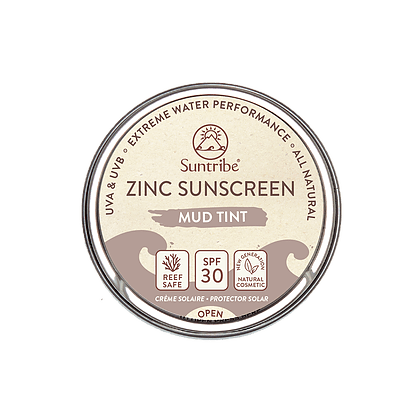 Suntribe: Zonnencrème Face & Sport (SPF 30) - Mud - Turtlee Green