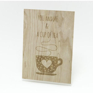 Houten Kaart: You, Me & a Cup of Tea - Turtlee Green