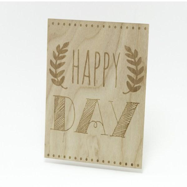Houten Kaart: Happy Day - Turtlee Green