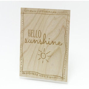 Houten Kaart: Hello Sunshine - Turtlee Green