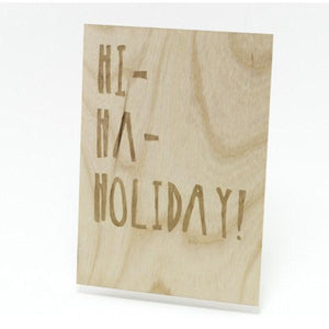 Houten Kaart: Hi Ha Holiday - Turtlee Green