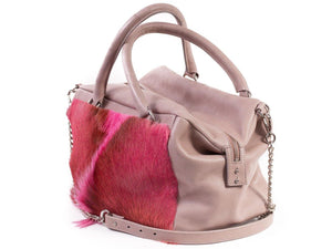 Pink Box Bag with a Fan - SHERENE MELINDA