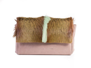 Apple Green Sophy Leather Clutch Bag with a Fan - SHERENE MELINDA