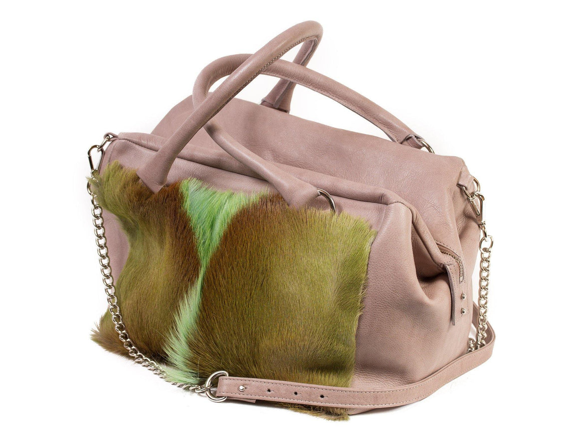 Apple Green Box Bag with a Fan - SHERENE MELINDA