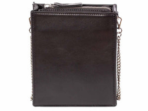 Messenger Studded Handbag in Black by Sherene Melinda back