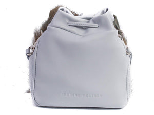 sherene melinda springbok hair-on-hide baby blue leather pouch bag back
