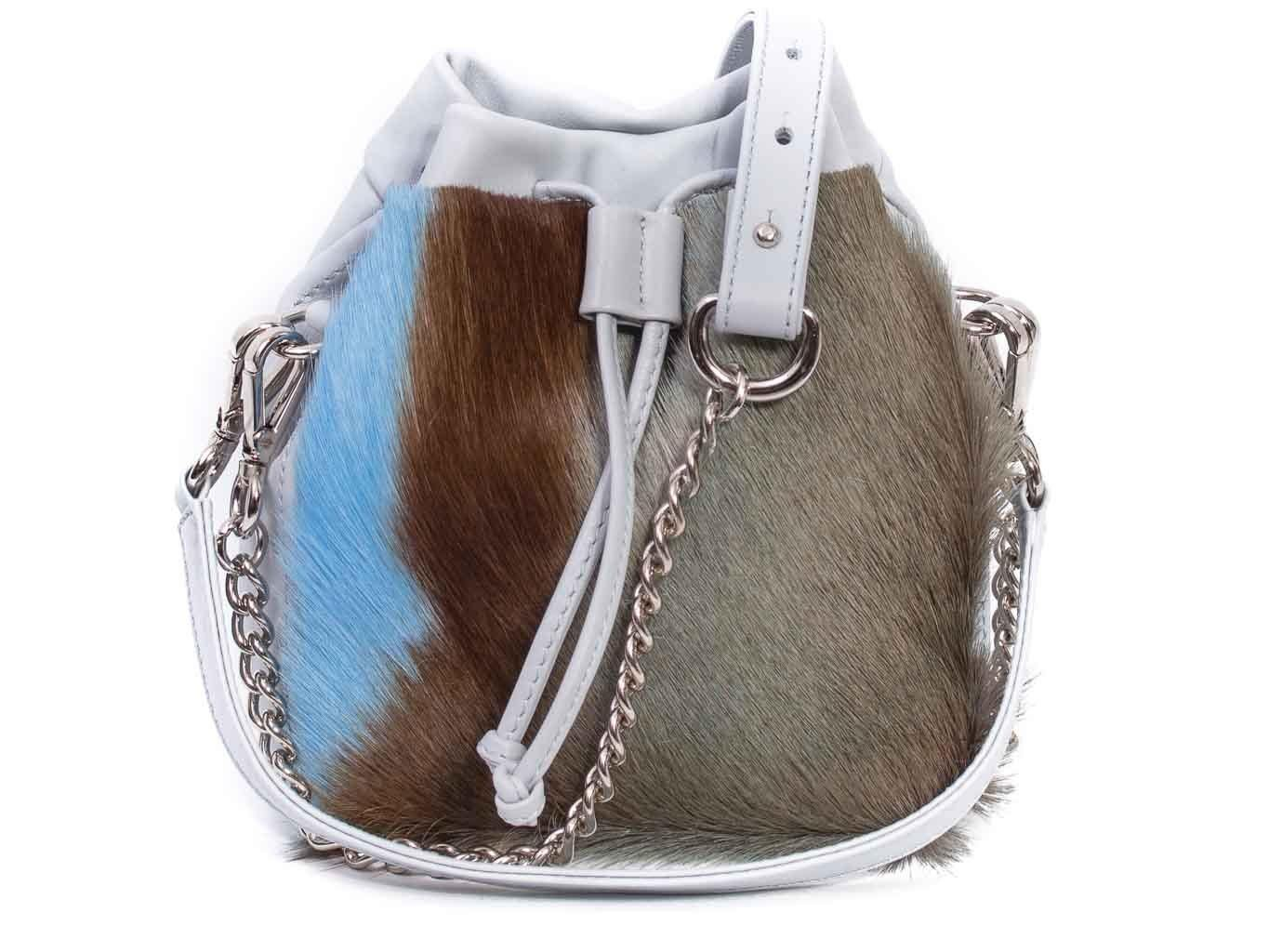 Baby Blue Lou Lou Pouch with a stripe
