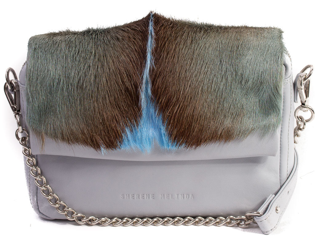 Baby Blue Shoulder Bag with a fan