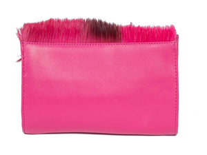 Mini Springbok Handbag in Fuchsia with a Stripe by Sherene Melinda