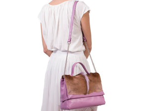 sherene melinda springbok hair-on-hide lavender leather smith tote bag Fan context