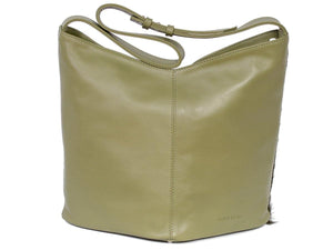 Hobo Springbok Handbag in Military Green with a Stripe by Sherene Melinda Stripe Back