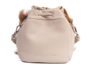 sherene melinda springbok hair-on-hide natural leather pouch bag back