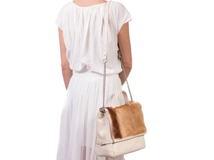 sherene melinda springbok hair-on-hide natural leather smith tote bag Stripe context