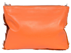 Multiway Springbok Handbag in Orange with a Stripe by Sherene Melinda Back