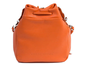 sherene melinda springbok hair-on-hide orange leather pouch bag back