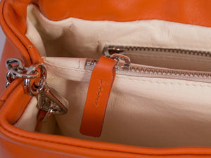 sherene melinda springbok hair-on-hide orange leather smith tote bag inside