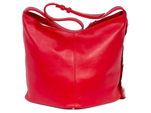 Hobo Springbok Handbag in Red with a Fan by Sherene Melinda Fan Back