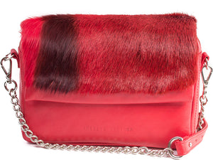 Red Shoulder Bag with a stripe