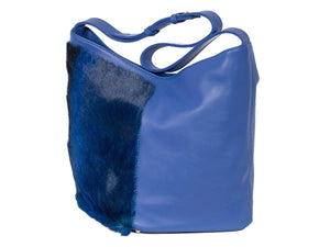 Hobo Springbok Handbag in Royal Blue with a Stripe by Sherene Melinda Stripe Front Right