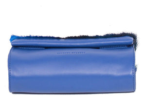 Mini Springbok Handbag in Royal Blue with a Stripe by Sherene Melinda Bottom