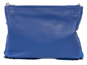 Multiway Springbok Handbag in Royal Blue with a Fan by Sherene Melinda Back