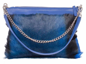 Multiway Springbok Handbag in Royal Blue with a Stripe by Sherene Melinda Front Strap