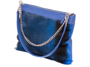 Multiway Springbok Handbag in Royal Blue with a Stripe by Sherene Melinda Side Angle Strap