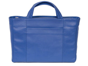 Tote Springbok Handbag in Royal Blue with a fan by Sherene Melinda Back